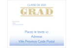 Remise de diplômes « Grad »  Étiquettes d'expédition - gabarit prédéfini. <br/>Utilisez notre logiciel Avery Design & Print Online pour personnaliser facilement la conception.