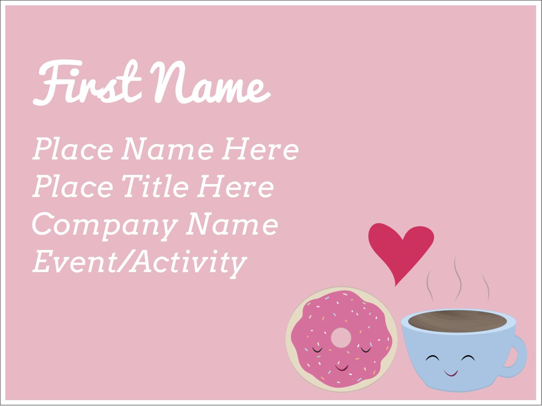 "3"" x 4"" Name Tags - Sweet Coffee Heart"