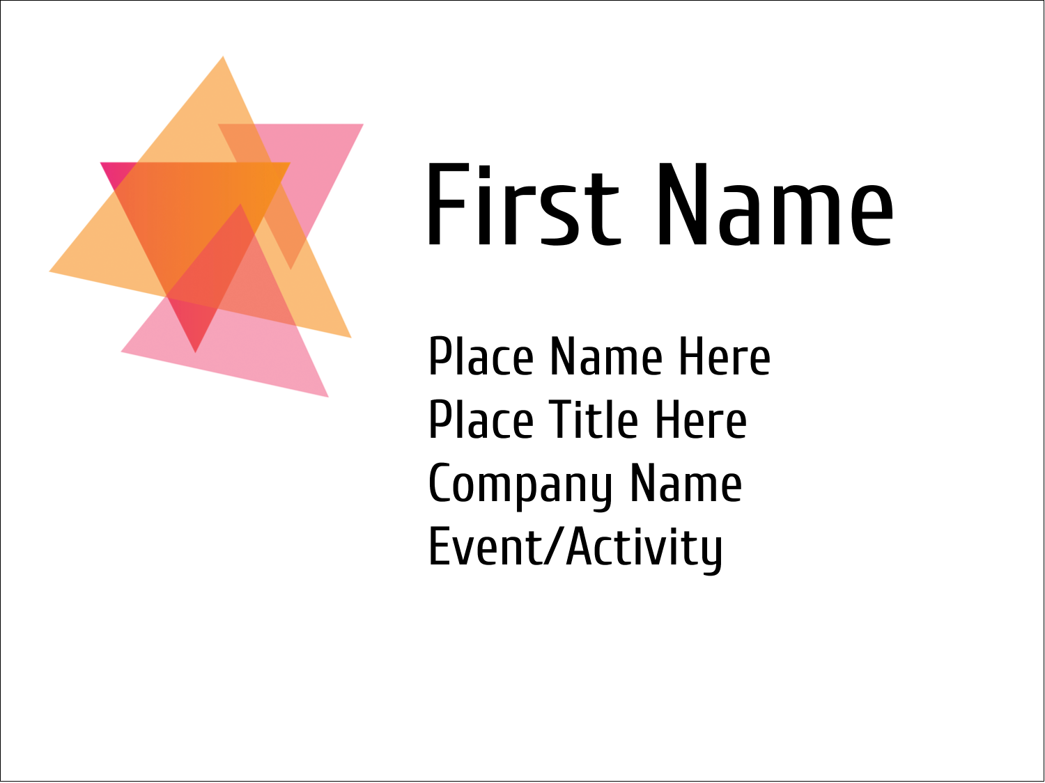 "3"" x 4"" Name Tags - Internal Business"