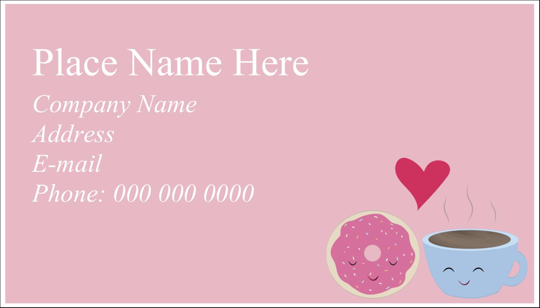 "2"" x 3½"" Business Card - Sweet Coffee Heart"