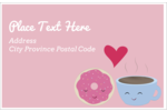 Add a cuppa love to custom projects with pre-designed Sweet Coffee Heart templates.