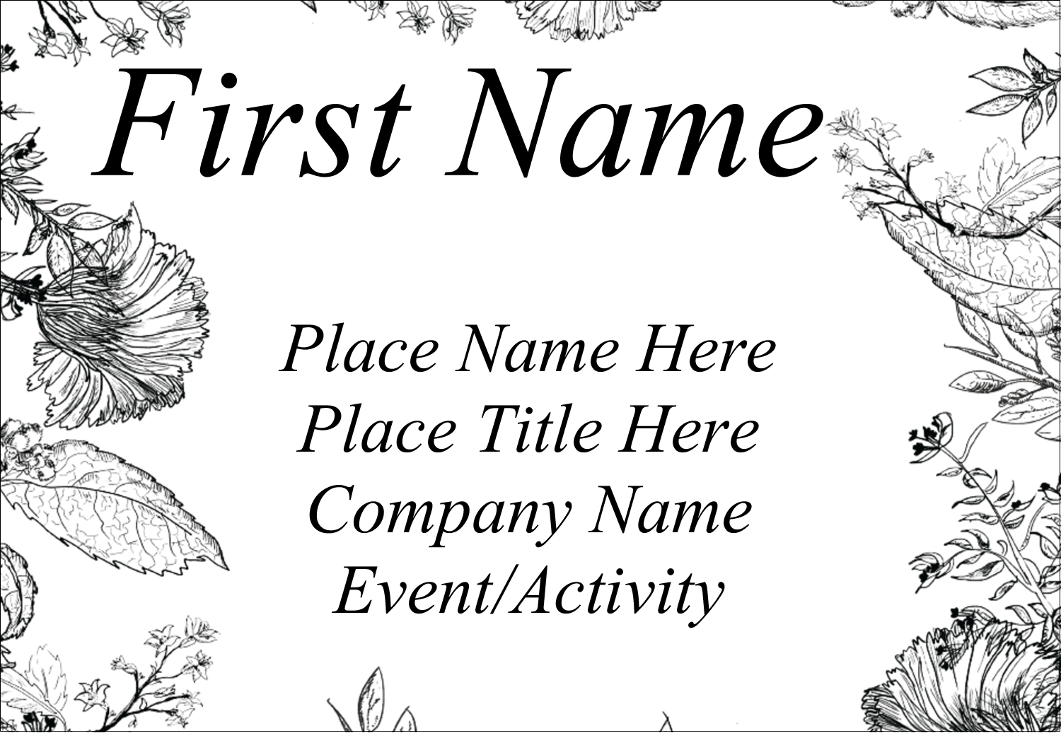 Let your project fully bloom with printable pre-designed Natural Beauty templates.