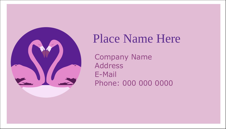 "2"" x 3½"" Business Card - Flamingo Heart"