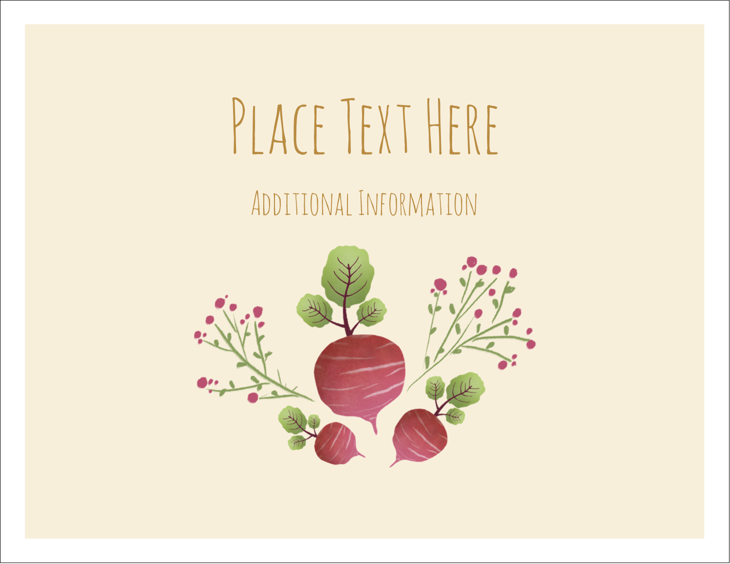 """5½"""" x 4¼"""" Note Card - Market Beets"""