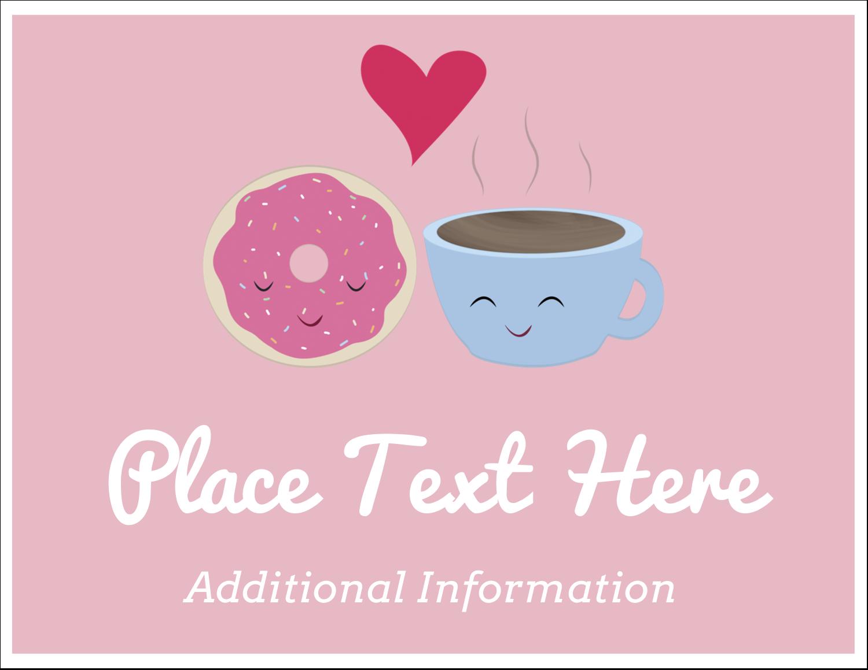 "5½"" x 4¼"" Note Card - Sweet Coffee Heart"