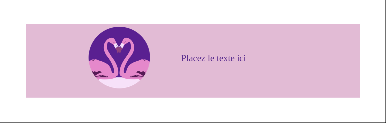 """4¼"""" x 5½"""" Carte de note - Flamant en forme de cœur"""