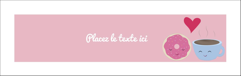 """4¼"""" x 5½"""" Carte de note - Amours, délices et café"""