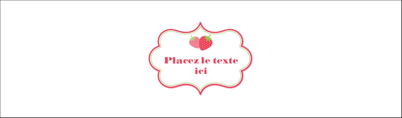 """3½"""" x 11"""" Affichette - Fraise en rouge et vert"""
