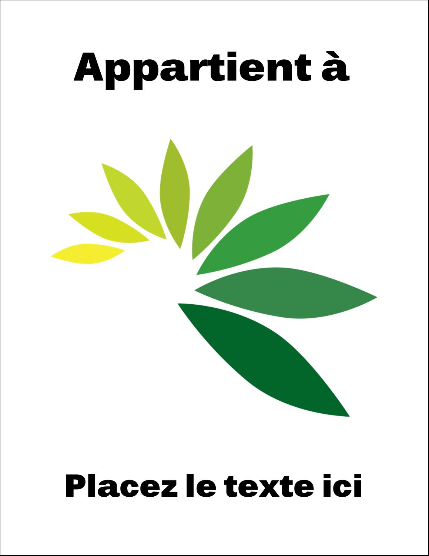 """11"""" x 8½"""" Étiquettes d'expéditions - Propriété industrielle de"""