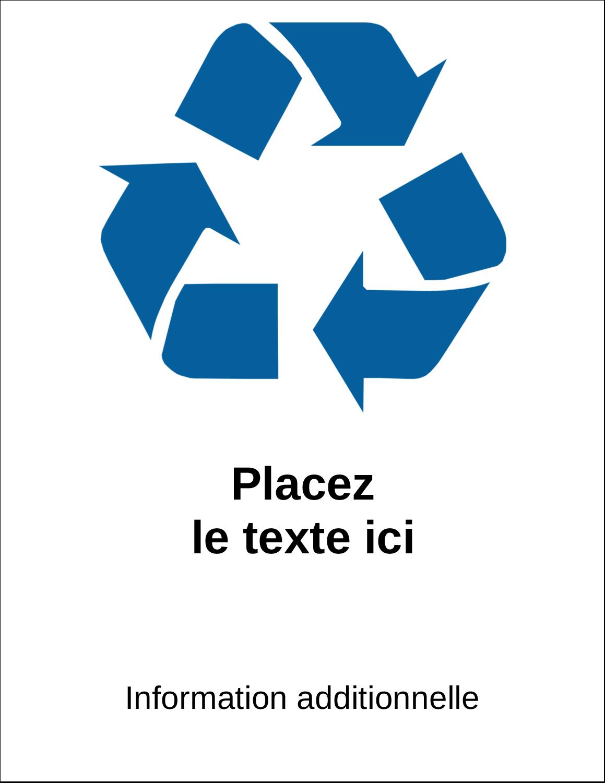 """11"""" x 8½"""" Étiquettes d'expéditions - Recyclage industriel bleu"""