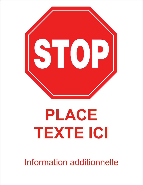 """11"""" x 8½"""" Étiquettes d'expéditions - Arrêt - Ne pas faire fonctionner"""