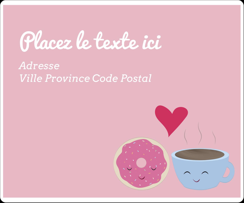 """½"""" x 1¾"""" Étiquettes D'Adresse - Amours, délices et café"""