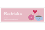 Amours, délices et café Intercalaires / Onglets - gabarit prédéfini. <br/>Utilisez notre logiciel Avery Design & Print Online pour personnaliser facilement la conception.