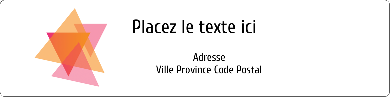 """1⅓"""" x 4"""" Étiquettes d'adresse - Affaires internes"""