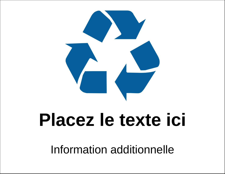 """1¾"""" x ½"""" Étiquettes D'Identification - Recyclage industriel bleu"""