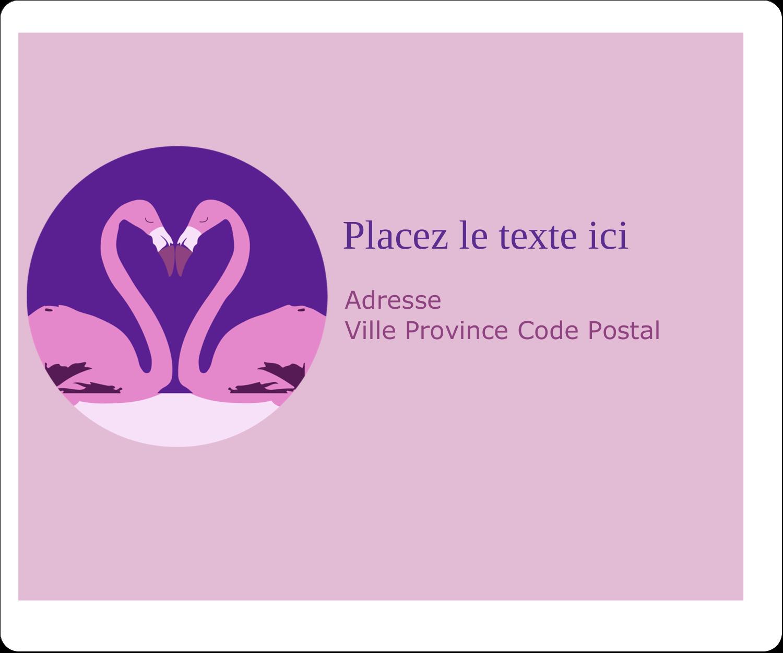 """½"""" x 1¾"""" Étiquettes D'Adresse - Flamant en forme de cœur"""
