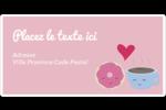 Amours, délices et café Étiquettes de classement écologiques - gabarit prédéfini. <br/>Utilisez notre logiciel Avery Design & Print Online pour personnaliser facilement la conception.