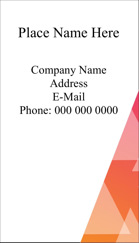 """3½"""" x 2"""" Business Card - Internal Business"""