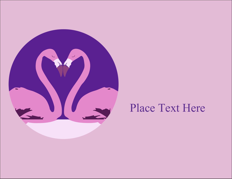 "5½"" x 4¼"" Postcard - Flamingo Heart"