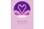 Add instinctive elegance to custom projects with pre-designed Flamingo Heart templates.