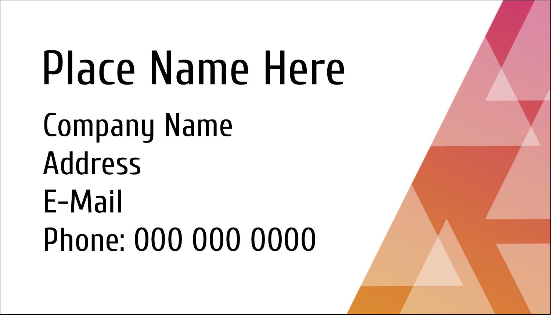 """2"""" x 3½"""" Business Card - Internal Business"""