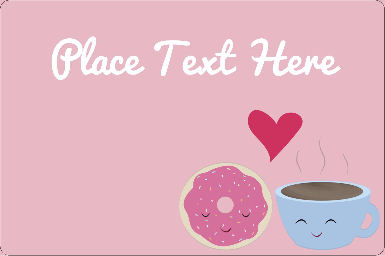 "2"" x 3"" Rectangular Label - Sweet Coffee Heart"