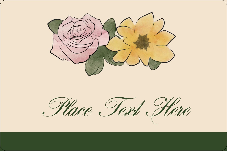 "2"" x 3"" Rectangular Label - Floral Watercolor"