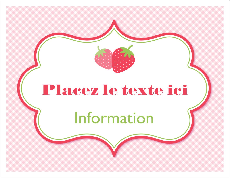 """8½"""" x 11"""" Cartes Et Articles D'Artisanat Imprimables - Fraise en rouge et vert"""