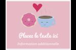 Amours, délices et café Cartes Et Articles D'Artisanat Imprimables - gabarit prédéfini. <br/>Utilisez notre logiciel Avery Design & Print Online pour personnaliser facilement la conception.