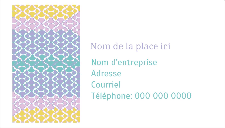 """2"""" x 3½"""" Carte d'affaire - Beauté géométrique"""