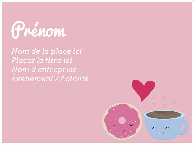 """3"""" x 4"""" Badges - Amours, délices et café"""