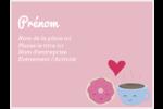 Amours, délices et café Badges - gabarit prédéfini. <br/>Utilisez notre logiciel Avery Design & Print Online pour personnaliser facilement la conception.