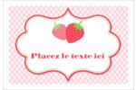 Fraise en rouge et vert Étiquettes à codage couleur - gabarit prédéfini. <br/>Utilisez notre logiciel Avery Design & Print Online pour personnaliser facilement la conception.