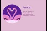 Flamant en forme de cœur Étiquettes à codage couleur - gabarit prédéfini. <br/>Utilisez notre logiciel Avery Design & Print Online pour personnaliser facilement la conception.