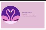 Flamant en forme de cœur Étiquettes d'adresse - gabarit prédéfini. <br/>Utilisez notre logiciel Avery Design & Print Online pour personnaliser facilement la conception.