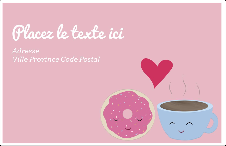 """1½"""" x 4"""" Étiquettes d'adresse - Amours, délices et café"""