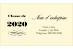 Diplôme d'études supérieures Carte d'affaire - gabarit prédéfini. <br/>Utilisez notre logiciel Avery Design & Print Online pour personnaliser facilement la conception.