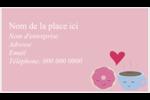 Amours, délices et café Cartes Pour Le Bureau - gabarit prédéfini. <br/>Utilisez notre logiciel Avery Design & Print Online pour personnaliser facilement la conception.