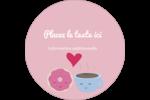 Amours, délices et café Étiquettes Voyantes - gabarit prédéfini. <br/>Utilisez notre logiciel Avery Design & Print Online pour personnaliser facilement la conception.