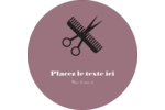 Salon Étiquettes Voyantes - gabarit prédéfini. <br/>Utilisez notre logiciel Avery Design & Print Online pour personnaliser facilement la conception.