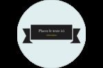 Fourchette et couteau noirs Étiquettes Voyantes - gabarit prédéfini. <br/>Utilisez notre logiciel Avery Design & Print Online pour personnaliser facilement la conception.