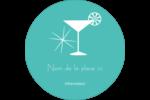Cocktail rétro bleu Étiquettes Voyantes - gabarit prédéfini. <br/>Utilisez notre logiciel Avery Design & Print Online pour personnaliser facilement la conception.