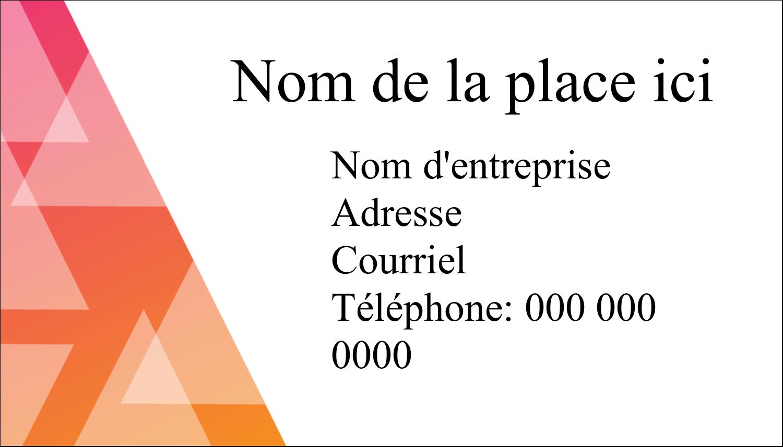 """2"""" x 3½"""" Carte d'affaire - Affaires internes"""