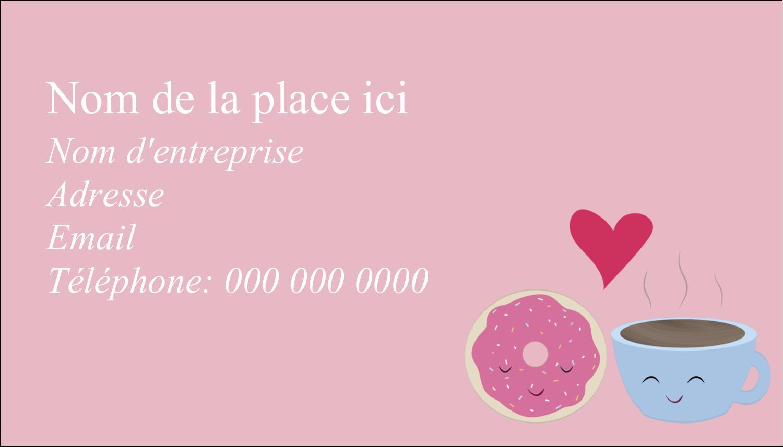 """2"""" x 3½"""" Carte d'affaire - Amours, délices et café"""