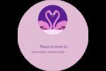Flamant en forme de cœur Étiquettes Voyantes - gabarit prédéfini. <br/>Utilisez notre logiciel Avery Design & Print Online pour personnaliser facilement la conception.