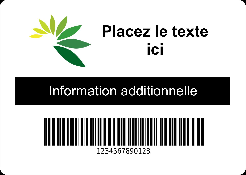 """1¾"""" x 1¼"""" Étiquettes D'Identification - Code-barres industriel"""