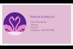 Flamant en forme de cœur Cartes Pour Le Bureau - gabarit prédéfini. <br/>Utilisez notre logiciel Avery Design & Print Online pour personnaliser facilement la conception.
