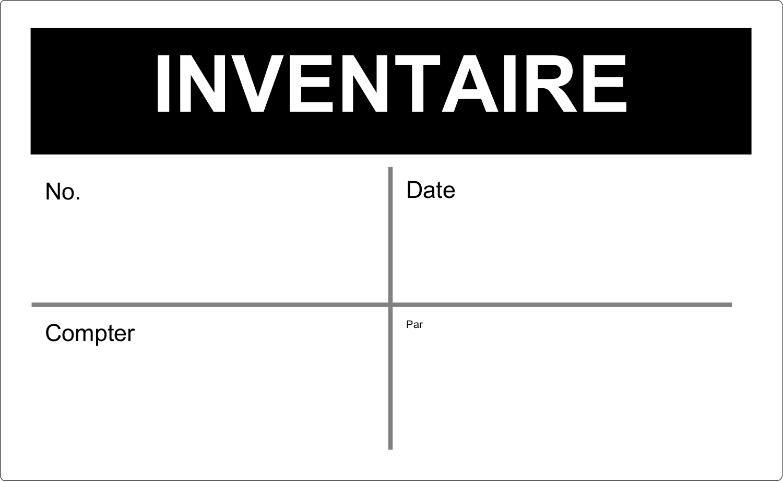 """8½"""" x 11"""" Étiquettes D'Identification - Inventaire"""