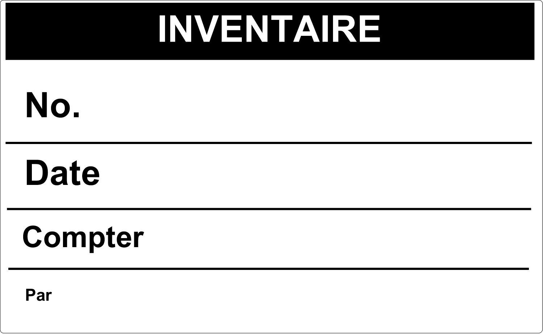 """8⅛"""" x 5"""" Étiquettes d'expéditions - Inventaire"""