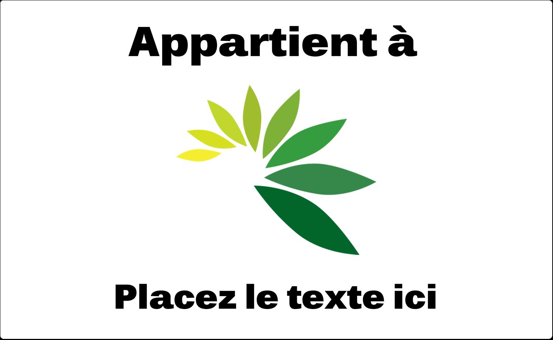 """8⅛"""" x 5"""" Étiquettes d'expéditions - Propriété industrielle de"""